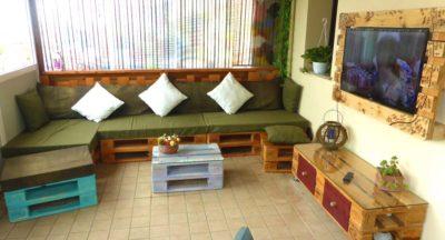 divani in pallet arredamento
